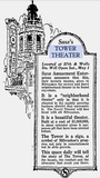 TOWER Theatre; Milwaukee, Wisconsin.