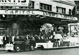 "<p>The float for ""Atlantis"" in front of Loew's Capitol Theatre in 1961.</p>"