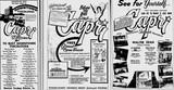 Capri Theatre Ad for Grand Opening