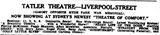 November 9th, 1935 grand opening ad as Tatler