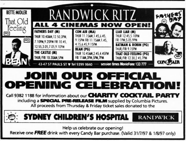 July 31st, 1997 grand opening as a 4-plex