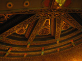 <p>The ceiling plaster ornamentation is simply amazing in this place!</p>