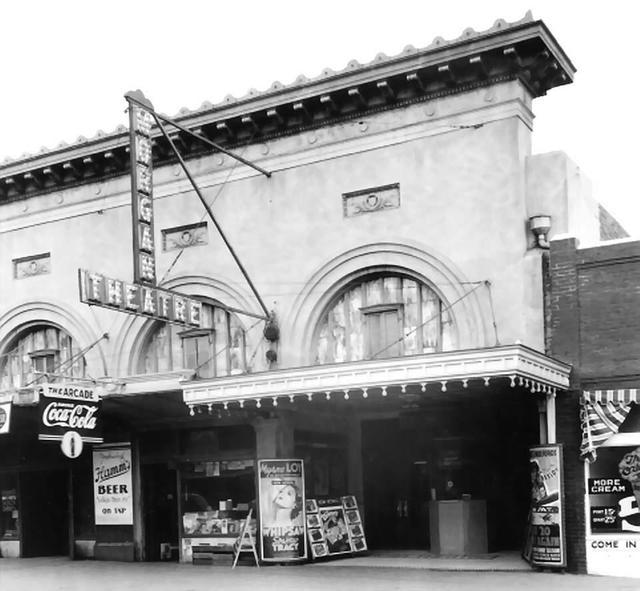 Morgan Theatre  316 Main Street, Henryetta, OK. (Before Remodeling) 1936.