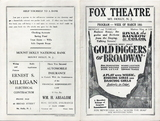 Fox Theatre program from 1930