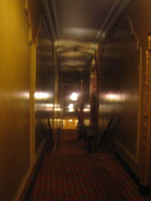 Ohio Theatre (Columbus) - exit staircase alongside auditorium sidewall