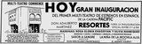 23 de de marzo de, 1980 de inauguración de anuncios.