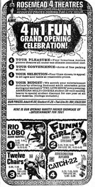 February 10th, 1971 grand opening ad