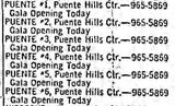 December 22nd, 1974 grand opening ad