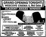 August 20th, 1969 grand opening ad