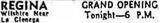 April 21st, 1937 grand opening ad as Regina