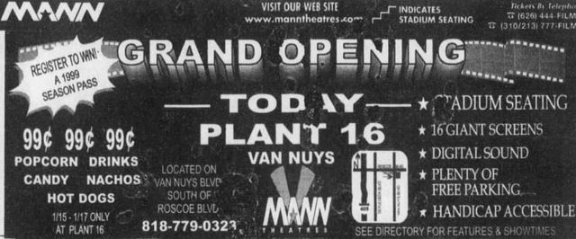 January 15th, 1999 grand opening ad