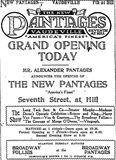 August 16th, 1920 grand opening ad