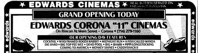 July 29th, 1988 grand opening ad
