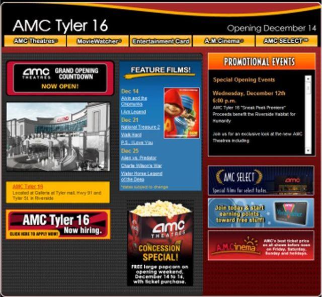 Amc Tyler Galleria 16 In Riverside Ca Cinema Treasures