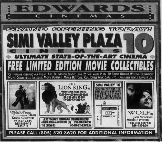 June 24th, 1994 grand opening ad