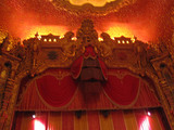 <p>The balcony front is so close to the stage — when you finally clear iot and see this 60 foot tall proscenium looming over you, it can be fairly intimidating.</p>