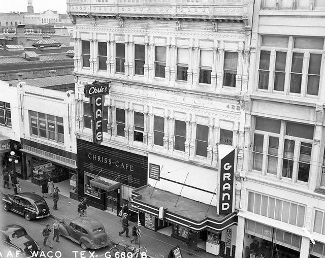 Slightly wider, brighter pic of the Grand. Photo credit Baylor University's Texas Collection.