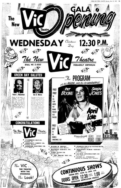 December 23rd, 1957 grand opening ad