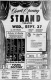September 24th, 1961 grand opening ad as Strand