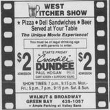 June 12th, 1987 grand opening ad as West Pitcher Show
