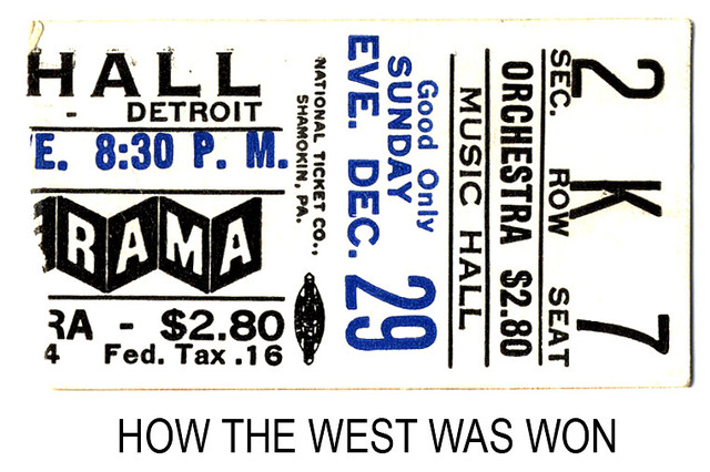 How the West Was Won reserved seat ticket stub