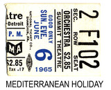Mediterranean Holiday reserved seat ticket stub