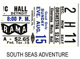South Seas Adventure reserved seat ticket stub