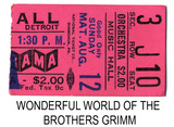 The Wonderful World of the Brothers Grimm reserved seat ticket stub
