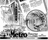 detail from the advertisement for the Metro's opening in 1938