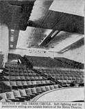 Newspaper photograph of the Perth Metro's dress circle, 1938