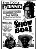 Show Boat at Perth's Grand in 1936