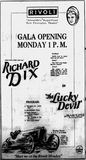 September 6th, 1925 grand opening ad as Rivoli