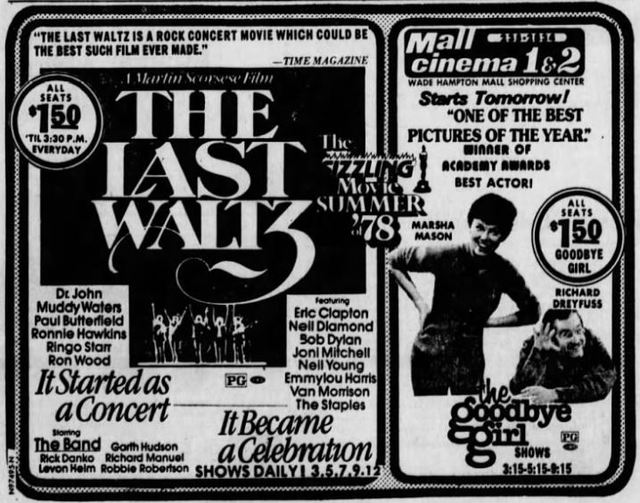 June 8th, 1978 ad for first showings as a twin.