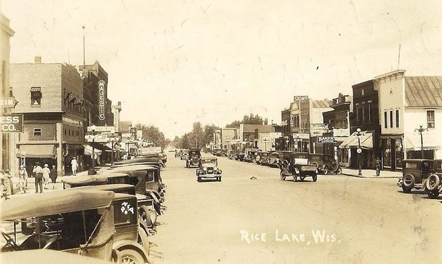 Early `30's photo credit Old School Rice Lake Facebook page.
