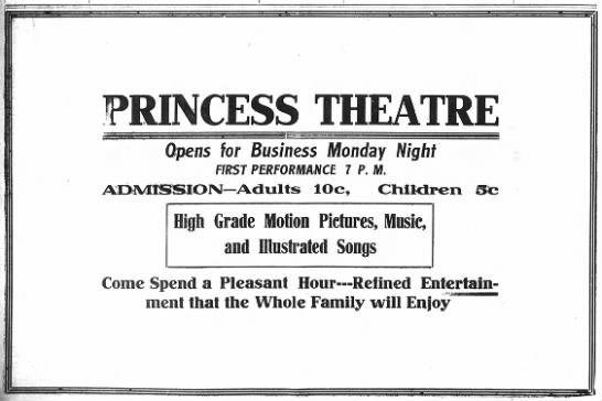 April 15th, 1914 grand opening ad