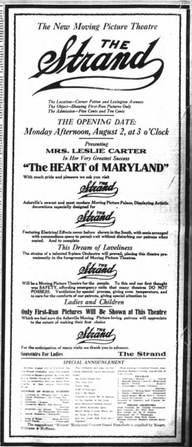 August 1st, 1915 grand opening ad