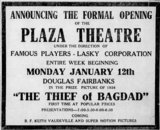 January 4th, 1925 grand opening ad