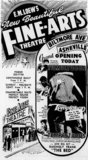 June 8th, 1962 grand opening ad as Fine Arts