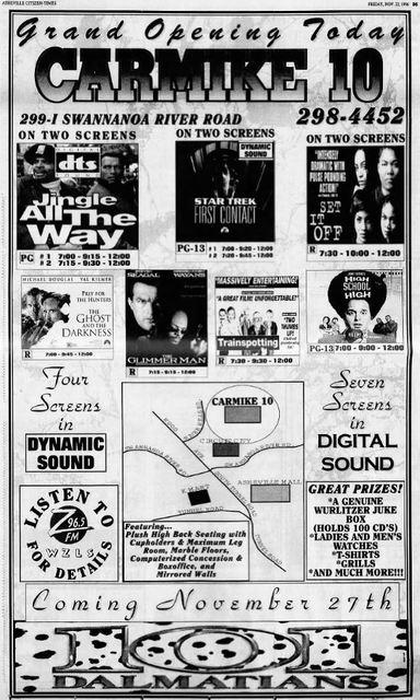 november 22nd 1996 grand opening ad cinema treasures