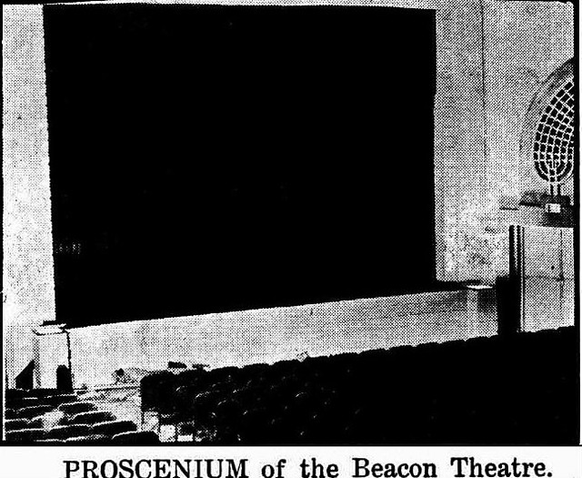 A poor quality news pic the Beacon Theatre's proscenium arch