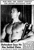 1953 winner of Mr Perth at the Capitol Theatre
