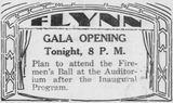 November 26th, 1930 grand opening ad