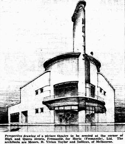 The original design for Hoyts Fremantle