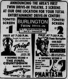 April 24th, 1981 grand opening as a twin drive-in