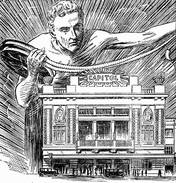 Detail from an artist's impression of the Capitol, taken from press ad, 3 May 1929