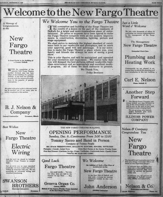 December 7th, 1929 grand opening ad