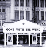 "<p>Great shot of the Loew's State with a brilliant masked front for ""Gone with the Wind"" on February 7, 1940.</p>"