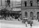 Crowd leaving the Regent, late 1930s