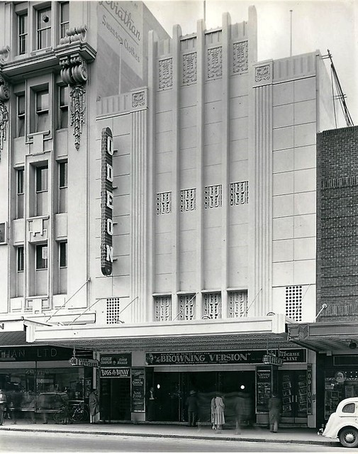 Exterior of Melbourne's Odeon Theatre, c. 1952