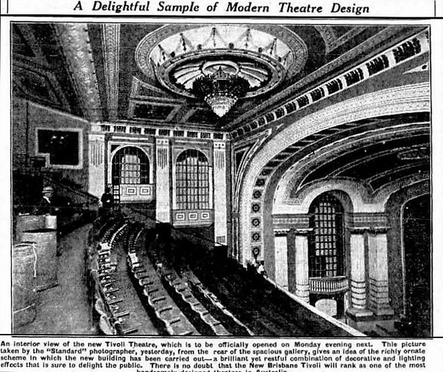 Press image from 30 April 1927 announcing the new Tivoli's opening